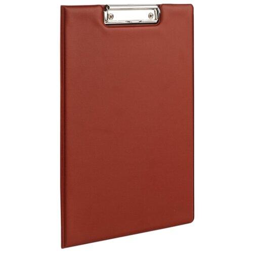 BRAUBERG Папка-планшет с верхним прижимом и крышкой, А4 бордовый канцелярия brauberg папка планшет contract а4 с прижимом и крышкой