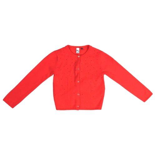 Купить Кардиган 3Pommes размер 104, коралловый, Свитеры и кардиганы