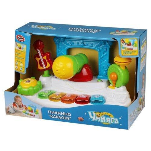 Развивающая игрушка Play Smart Умняга Пианино Караоке белый/голубой/зеленый игрушка пластмассовая каталка вертолет play smart pac 28х15х10 см арт 1192