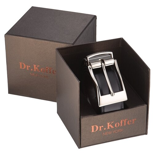 Ремень Dr.Koffer R022T01120-50, черный, 120 см
