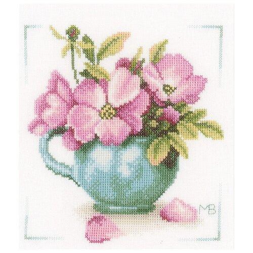 Фото - Lanarte Набор для вышивания Дикие розы 20 x 20 см (PN-0164070) lanarte набор для вышивания индианка 39 x 49 см 0008160 pn