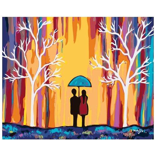 Купить Картина по номерам Живопись по Номерам Вдвоем под зонтом , 40x50 см, Живопись по номерам, Картины по номерам и контурам