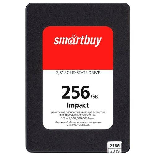 Твердотельный накопитель SmartBuy 256 GB (Impact 256 GB (SBSSD-256GT-PH12-25S3)) черный