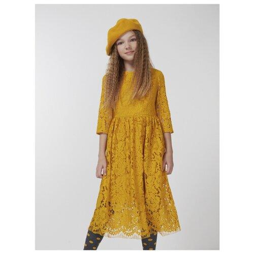 Купить Платье Смена размер 152/76, горчичный, Платья и сарафаны