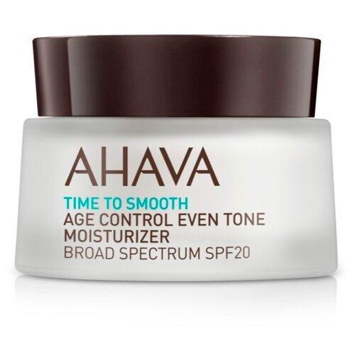 Крем AHAVA Time To Smooth Age Control Even Tone Moisturizer Broad Spectrum SPF20 ровный тон и профилактика старения для лица, шеи и декольте, 50 мл