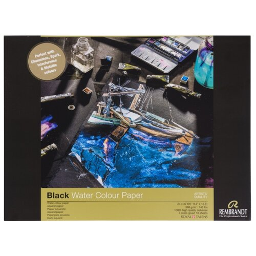Фото - Альбом для акварели Rembrandt 360гр/м.кв 24*32см черная 10л склейка альбом для акварели royal talens rembrandt 32 х 24 см 300 г м² 20 л