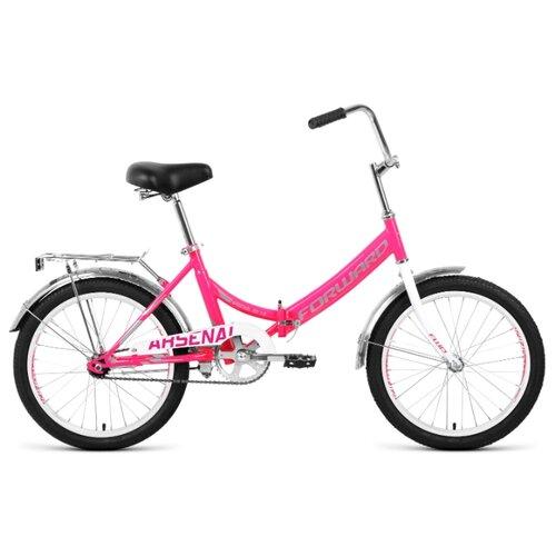 цена на Городской велосипед FORWARD Arsenal 20 1.0 (2020) розовый/серый 14