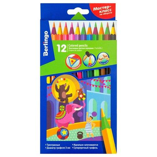 Купить Berlingo Карандаши цветные пластиковые Цирк 18 цветов (CP_04812), Цветные карандаши