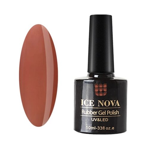 Гель-лак для ногтей ICE NOVA Rubber Gel Polish, 10 мл, 197 гель лак для ногтей ice nova rubber gel polish 10 мл 185