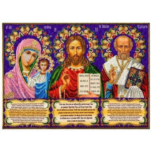 Набор Иконостас с молитвами (строчный шов) 36х27 Вышиваем бисером А-6