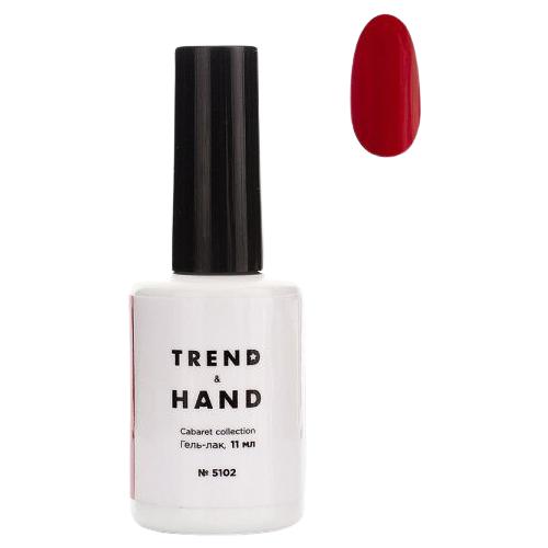 Купить Гель-лак для ногтей Trend&Hand Cabaret, 11 мл, оттенок 5102 Scarlet