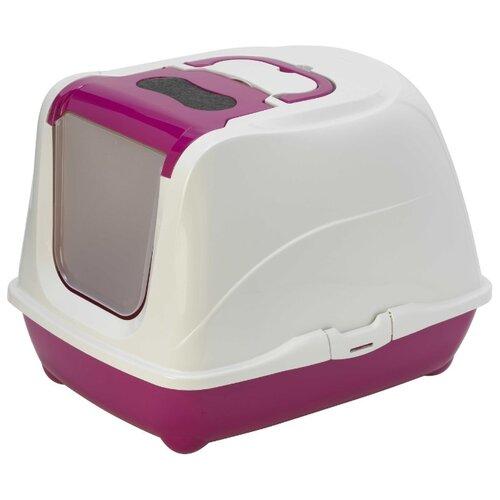 Туалет-домик для кошек Moderna Flip Cat Large 50х39х37 см ярко-розовый