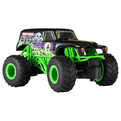 Купить Монстр-трак Monster Jam Grave Digger 1:24 черный/зеленый, Радиоуправляемые игрушки