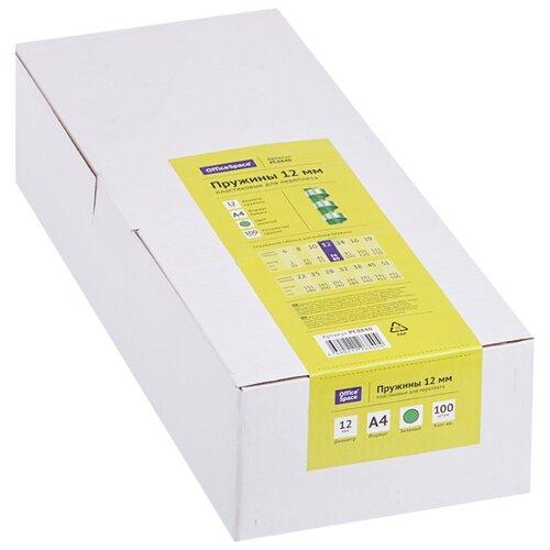 Фото - Пружина OfficeSpace пластиковые 12 мм зеленый 100 шт. пружина officespace пластиковые 6 мм черный 100 шт