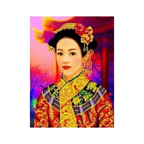 Купить Шанхай Рисунок на ткани 27х36 Каролинка ТКБЛ 3004, Канва