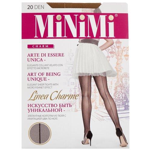 Колготки MiNiMi Linea Charme 20 den, размер 1/2-S, daino (бежевый) колготки minimi linea charme 20 den размер 4 l daino бежевый