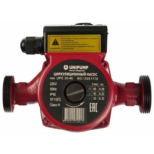 Циркуляционный насос UNIPUMP UPC 25-60 180 мм (100 Вт) насос unipump upс 25 60 180 50058