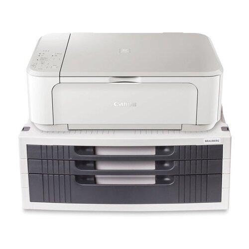 Подставка для принтера или монитора BRAUBERG с 1 полкой и 3 ящиками 380х275х150 мм 510190
