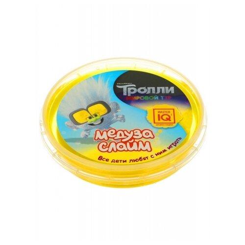 Слайм Master IQ Медуза Тролли в шайбе, желтый, готовый 75 гр