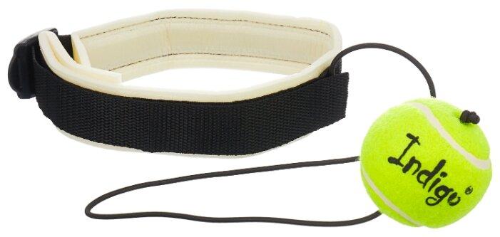 Эспандер для лыжника (боксера, пловца) Indigo Fight Ball (00020795) 55 см черный/желтый