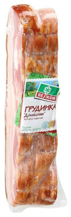 Велком Грудинка Домашняя варено-копченая из свинины 450 г