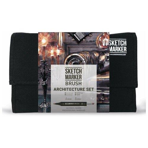 Купить SketchMarker Набор маркеров Brush Architecture Set, 24 шт, Фломастеры и маркеры