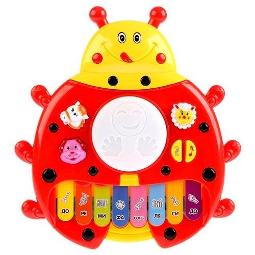 Умка пианино B1238209-R красный/желтый, Детские музыкальные инструменты  - купить со скидкой