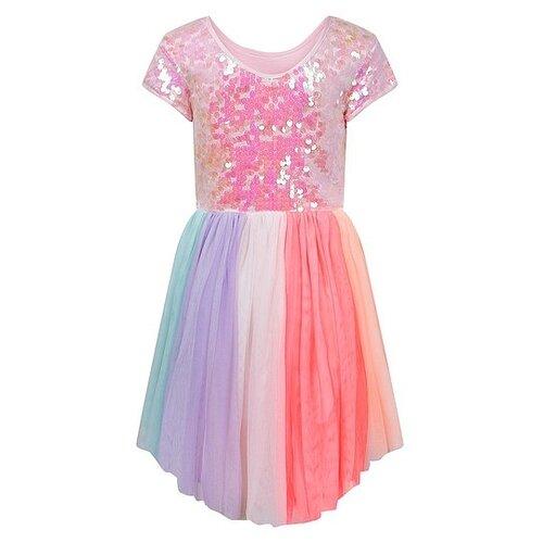 Платье Billieblush размер 140, розовый/голубой/фиолетовый