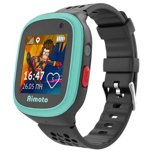 Детские умные часы c GPS Aimoto Start 2 черный/голубой