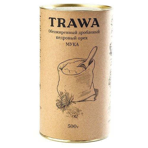 Мука Trawa из обезжиренных дробленых кедровых орехов, 0.5 кгМука из других злаков<br>