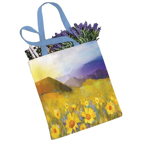 сумка планшет victorinox текстиль синий Сумка JoyArty, текстиль, синий/желтый