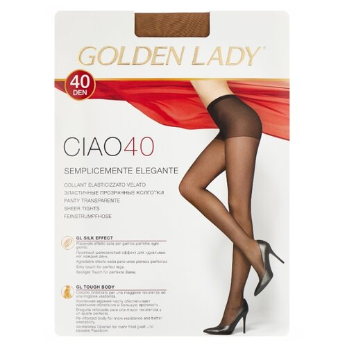 цена Колготки Golden Lady Ciao 40 den, размер 4-L, melon (бежевый) онлайн в 2017 году