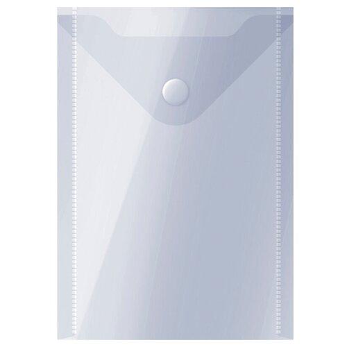 Купить OfficeSpace Папка-конверт на кнопке А6, пластик 150 мкм прозрачный, Файлы и папки