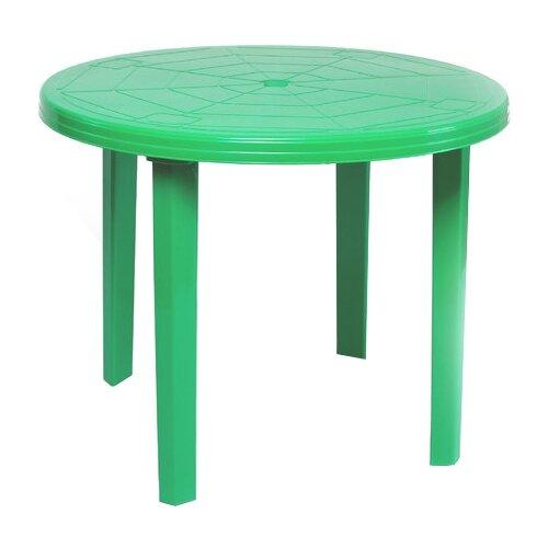 Стол обеденный садовый Туба-Дуба пластиковый круглый, зеленый