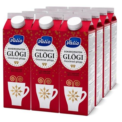 Напиток сокосодержащий Valio Glögi Глёгг красный из красного винограда и бузины с пряностями, без сахара, 1 л, 12 шт. по цене 2 132