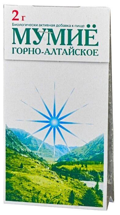 Мумие Горно-Алтайское пласт. 2 г — купить по выгодной цене на Яндекс.Маркете