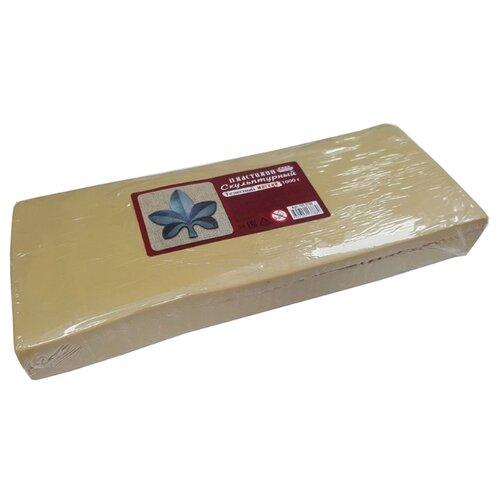 Пластилин скульптурный, мягкий, 1000 грамм, телесный, Проф-Пресс, Пластилин и масса для лепки  - купить со скидкой