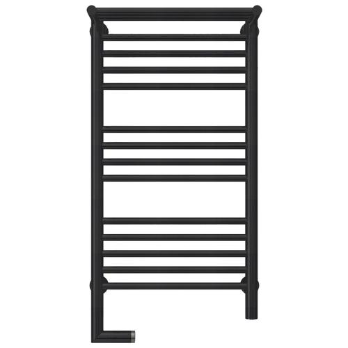 Электрический полотенцесушитель Сунержа Богема 2.0 с полкой 800x400 ЛТЭН матовый черный