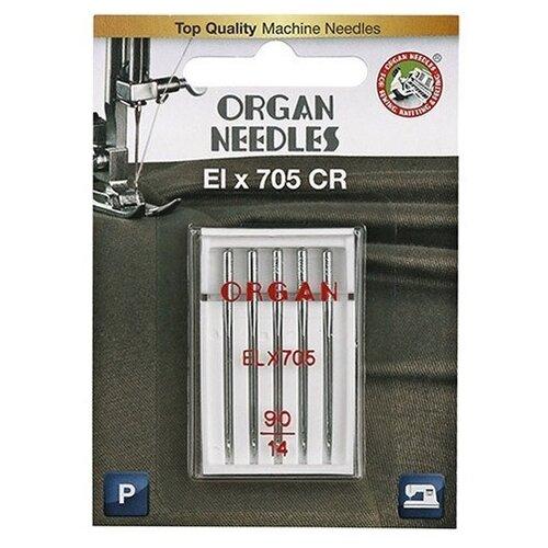 Игла/иглы Organ EL x 705 90 (блистер) серебристый