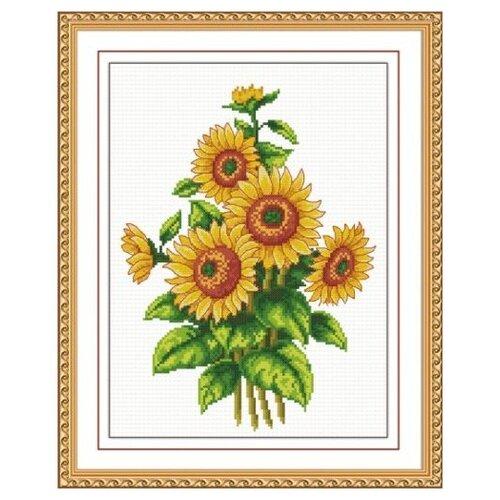Купить Hobby & Pro Набор для вышивания Цветы солнца 20 х 27 см (S-019), Наборы для вышивания