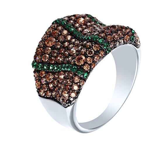 Фото - JV Серебряное кольцо с кубическим цирконием SR00756CZCSW-2-KO-001-WG, размер 18 jv серебряное кольцо с кубическим цирконием dm0026r ko 001 wg размер 18