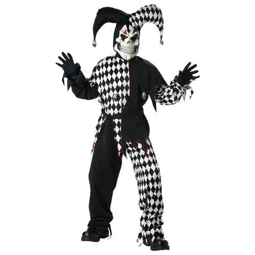 Купить Костюм California Costumes Злой шут 00217, черный/белый, размер XL (12-14 лет), Карнавальные костюмы