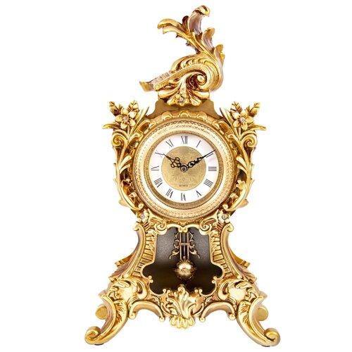 Часы каминные Русские подарки Рококо 59108 золотистый