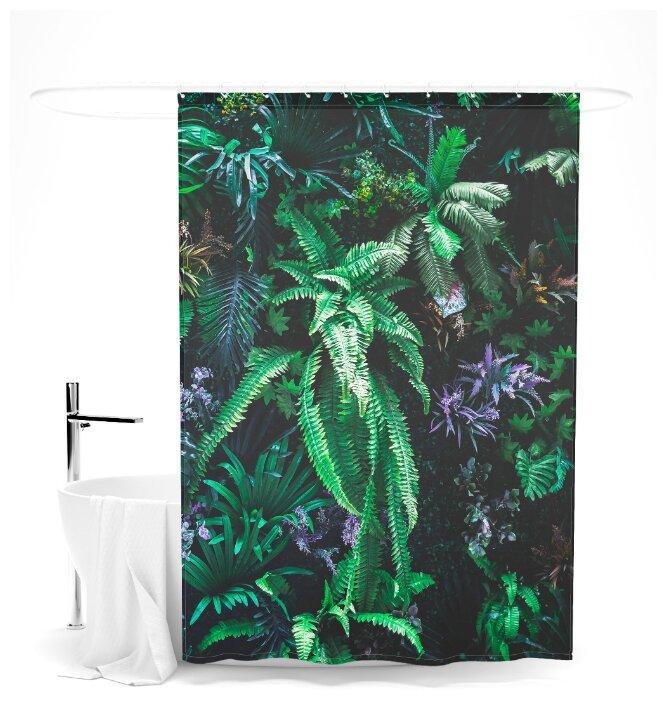 """Купить Шторка для ванной """"Прекрасные тропики"""", 145х180 см по низкой цене с доставкой из Яндекс.Маркета"""