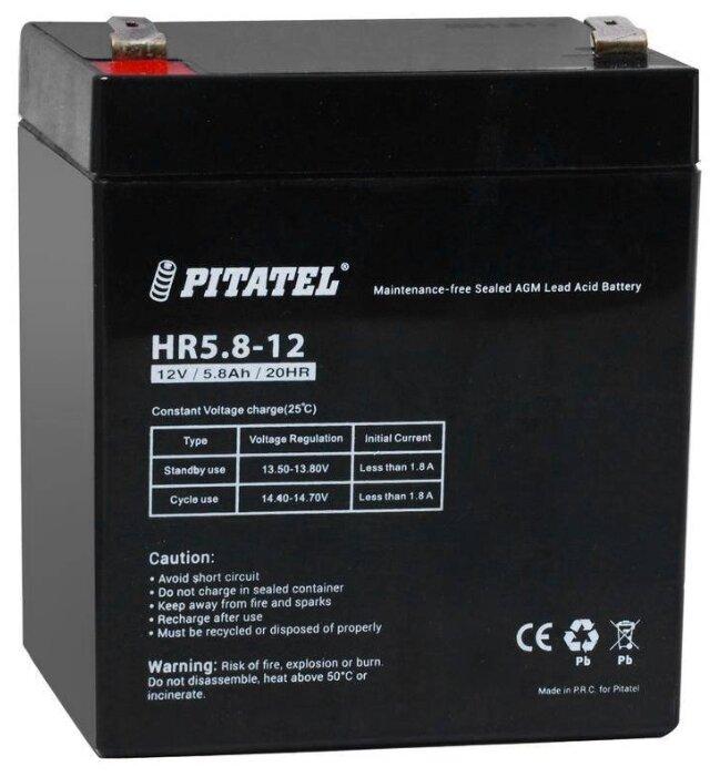 Аккумулятор Pitatel HR5.8-12, HR 1221W (12V, 5000mAh)
