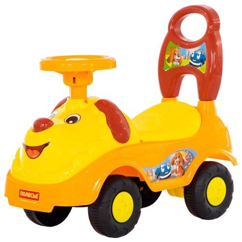 Каталка-толокар Полесье Лёва (77967) желтый каталка толокар orion toys мотоцикл 2 х колесный 501 зеленый