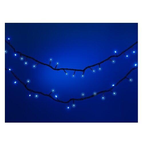 Гирлянда SNOWMEN Наружная 900 + 1000 см, 180 ламп, синий/зеленый провод гирлянда shae цвет синий 90х240 см