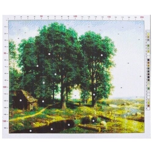 Фото - Канва для вышивания с рисунком Арт Узор Клодт. Дубовая роща, зеленый/серый 39 х 47 см михаил клодт набор репродукций