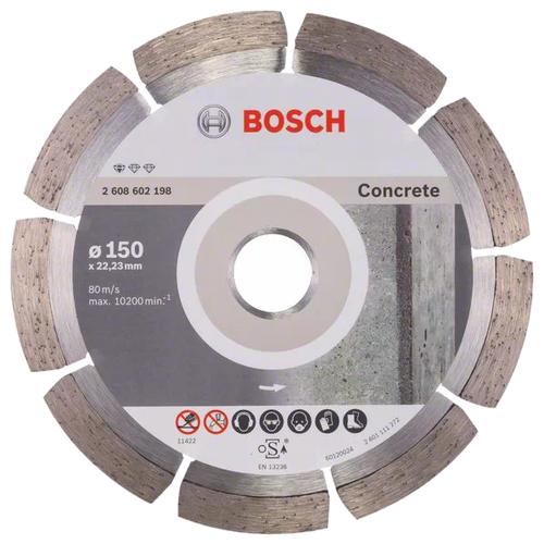 Фото - Диск алмазный отрезной BOSCH Standard for Concrete 2608602198, 150 мм 1 шт. диск алмазный отрезной bosch standard for universal turbo 2608602395 150 мм 1 шт