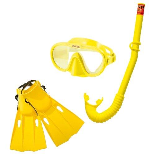 Набор для плавания с ластами Intex Master Class желтый intex pinwheel 229х56 см желтый